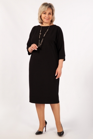 Платье Беретта Милада миди черного цвета