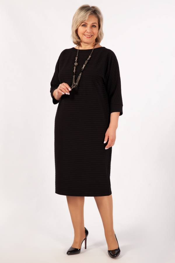 Милада миди черного цвета Платье Беретта