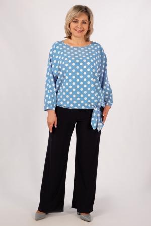 Блуза Дарина Милада с завязками для полных