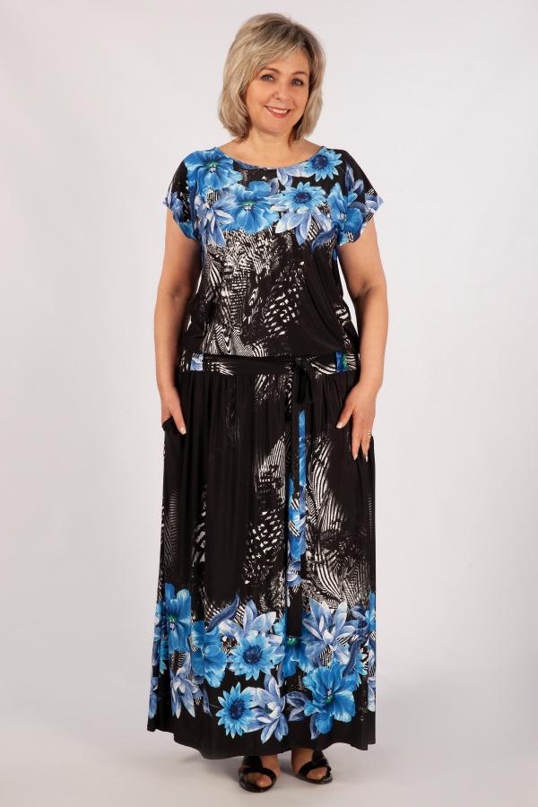 Милада 50-64 размеров Платье Анджелина-2