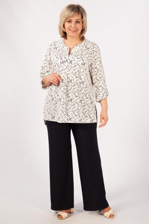 Милада для полных классического стиля Блуза Келли