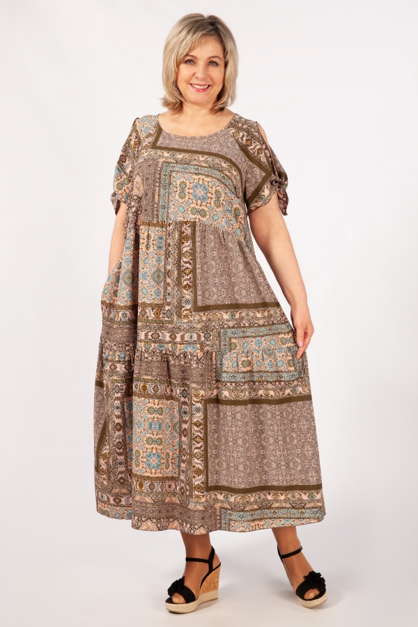 Милада многоярусное Платье Анфиса