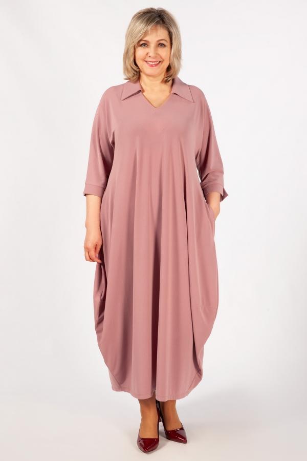 Милада макси цвет брусничный Платье Эмили