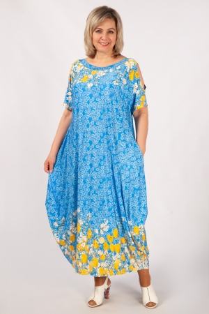 Платье Алиса Милада с цветочным принтом фото
