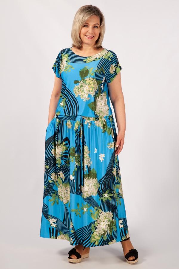 Милада с цветочным принтом Платье Анджелина-2