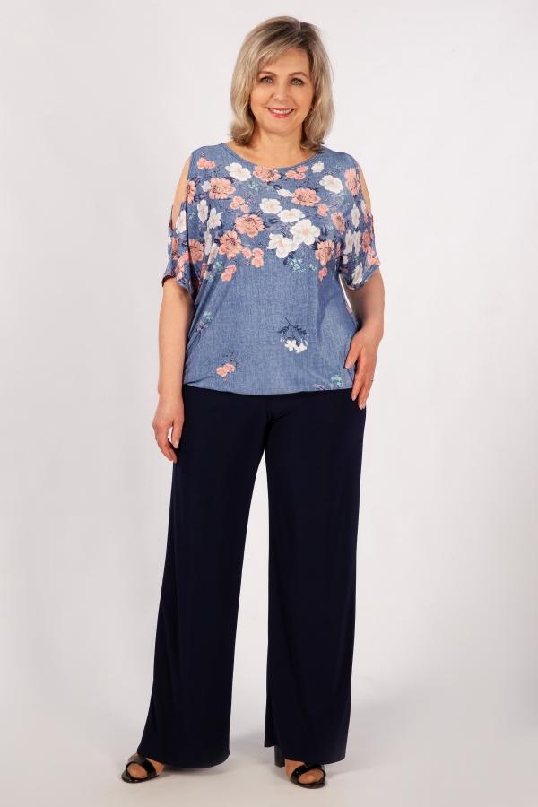 Милада с рукавами-капельками Блуза Симона