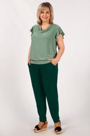 Брюки Амира Милада брюки на кокетке зеленые