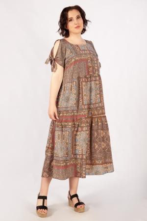 Платье Анфиса Милада с разрезами на рукавах фото