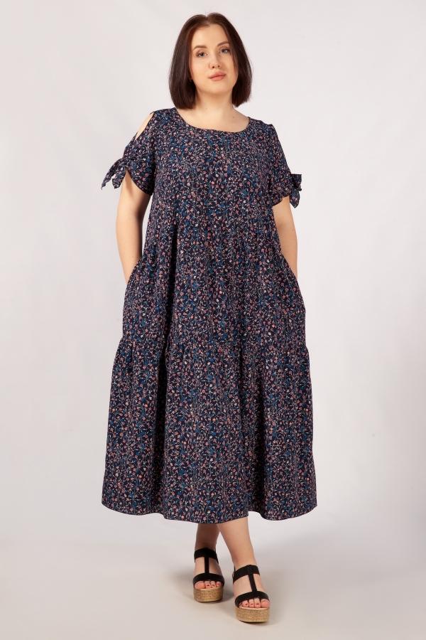 Милада макси длины с цветочным принтом Платье Анфиса