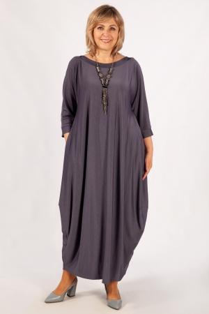 Платье Эвита Милада цвет серо-голубой