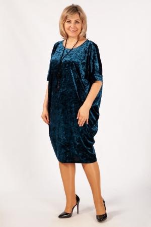Платье Барбара Милада из бархата стрейч