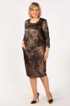 Платье Илона Милада золотое 50-64 размера